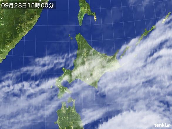実況天気図(2016年09月28日)