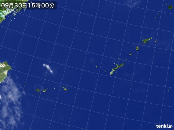 実況天気図(2016年09月30日)