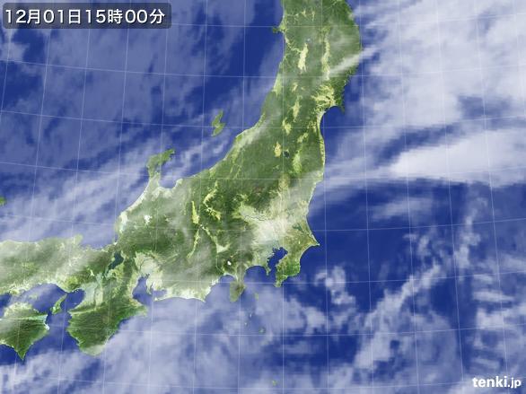 実況天気図(2016年12月01日)