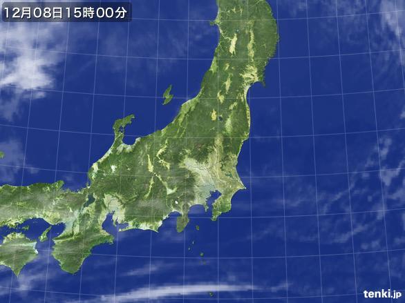 実況天気図(2016年12月08日)