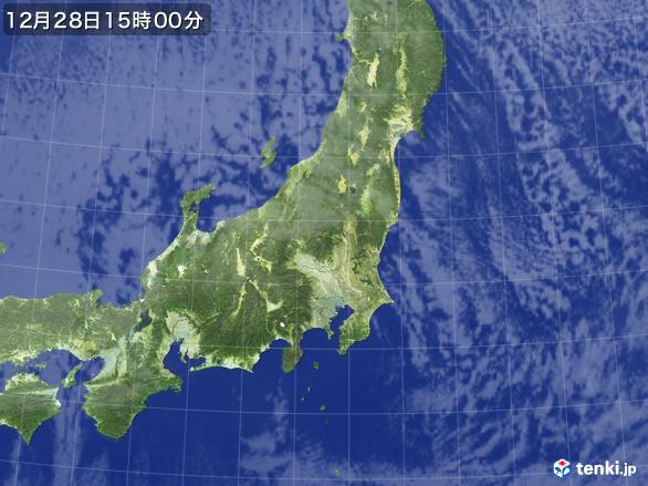 実況天気図(2016年12月28日)