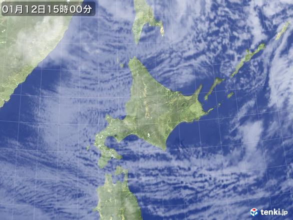 実況天気図(2017年01月12日)