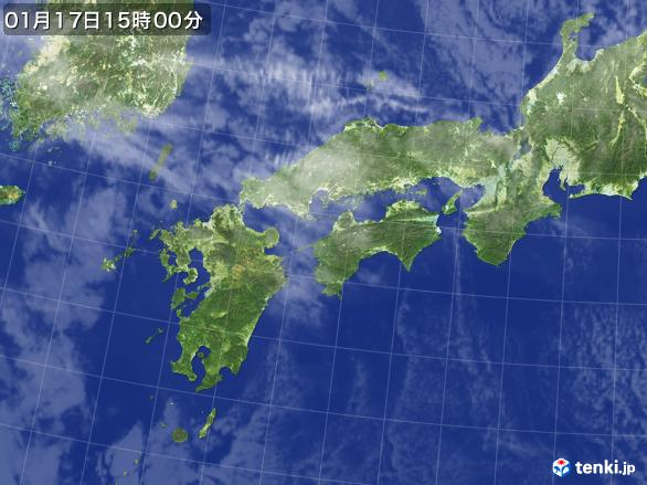 実況天気図(2017年01月17日)