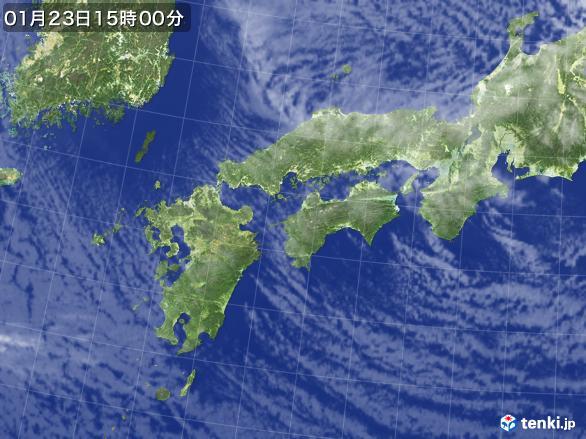 実況天気図(2017年01月23日)