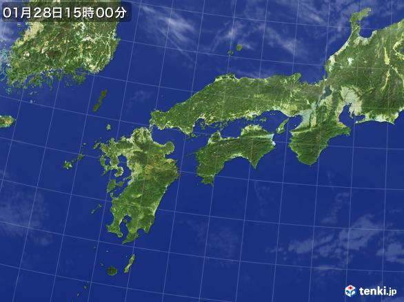 実況天気図(2017年01月28日)