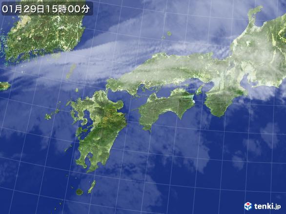 実況天気図(2017年01月29日)
