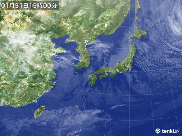 実況天気図(2017年01月31日)