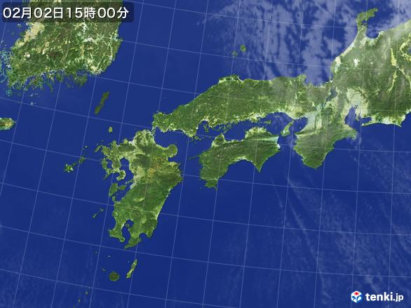 実況天気図(2017年02月02日)