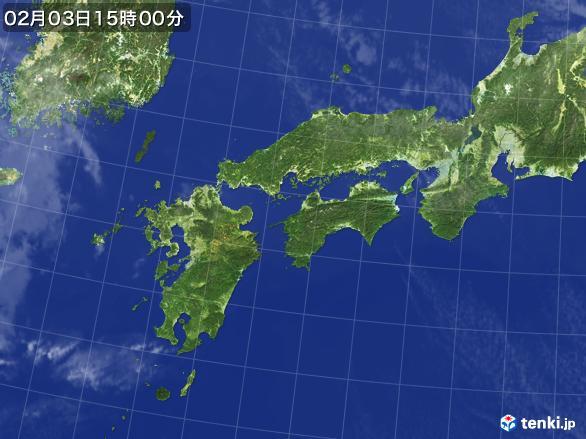 実況天気図(2017年02月03日)