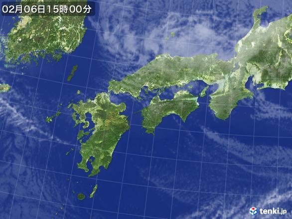 実況天気図(2017年02月06日)