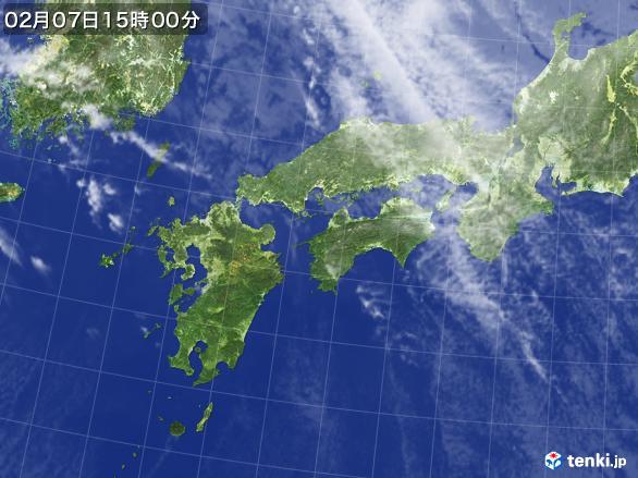 実況天気図(2017年02月07日)