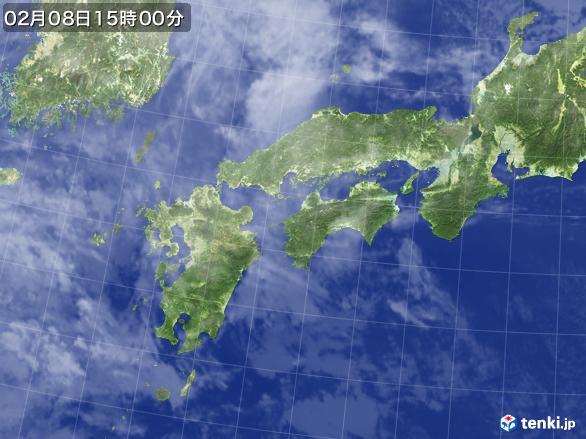 実況天気図(2017年02月08日)