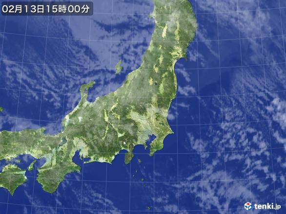 実況天気図(2017年02月13日)