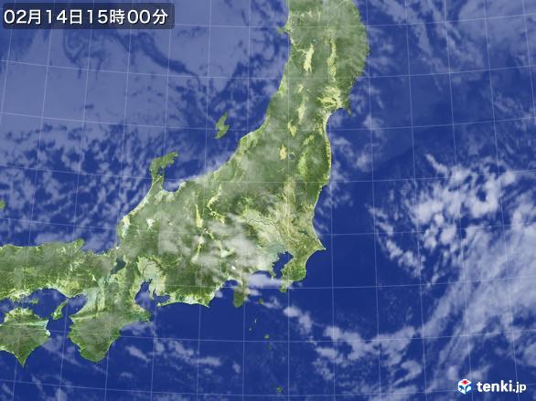 実況天気図(2017年02月14日)