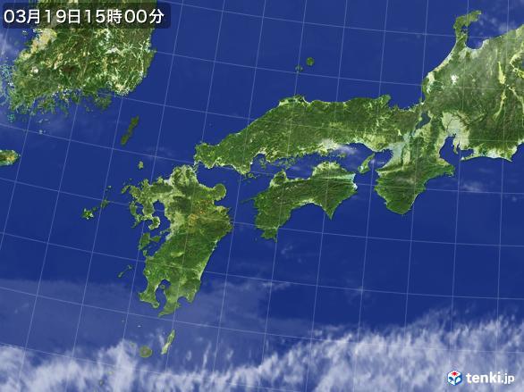 実況天気図(2017年03月19日)