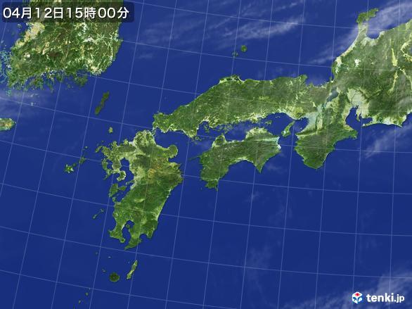 実況天気図(2017年04月12日)