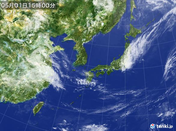 実況天気図(2017年05月01日)