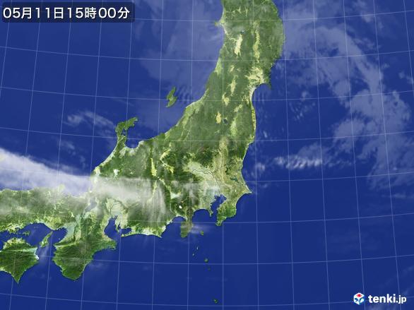実況天気図(2017年05月11日)