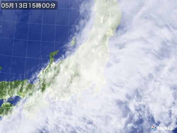 実況天気図(2017年05月13日)