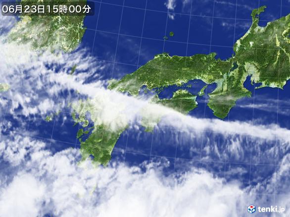 実況天気図(2017年06月23日)