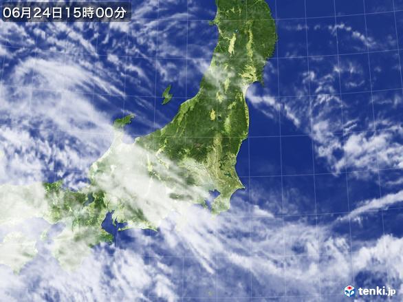 実況天気図(2017年06月24日)