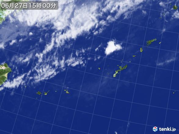 実況天気図(2017年06月27日)
