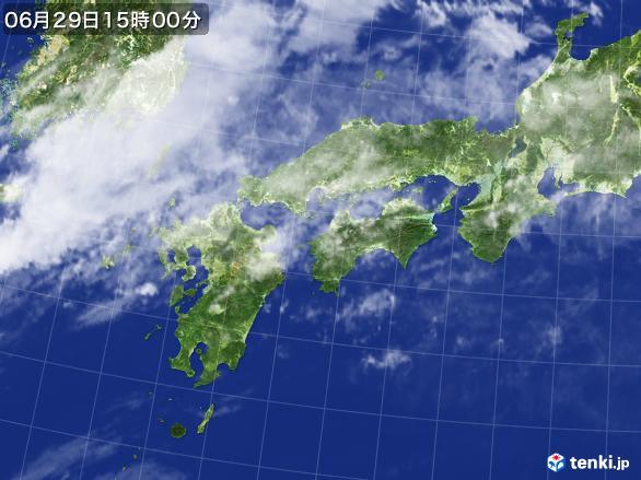 実況天気図(2017年06月29日)