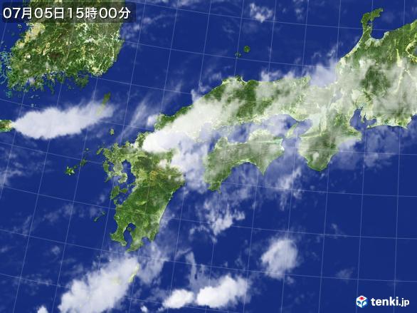 実況天気図(2017年07月05日)