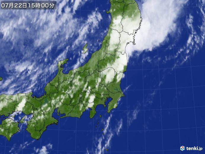実況天気図(2017年07月22日)
