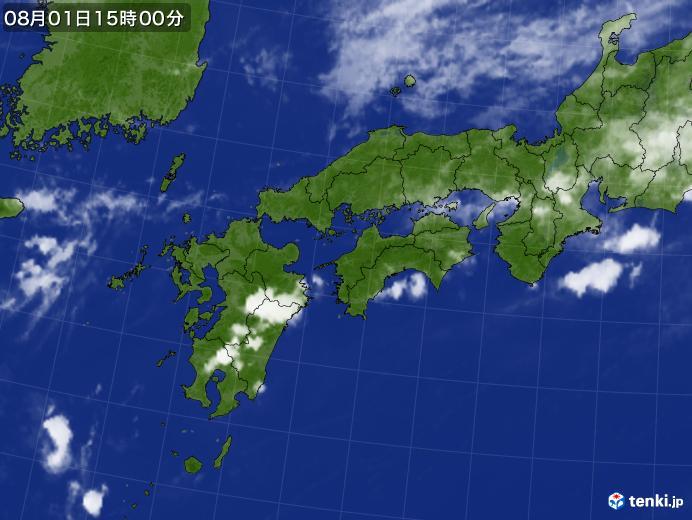 実況天気図(2017年08月01日)