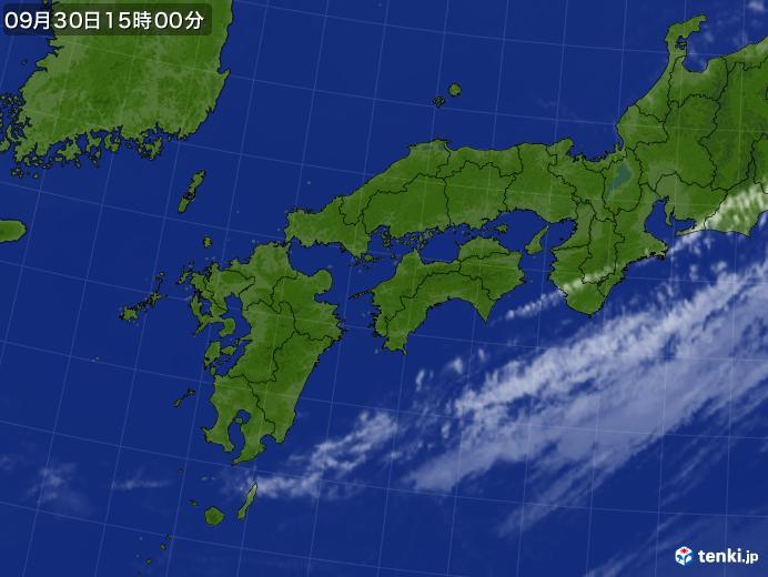 実況天気図(2017年09月30日)