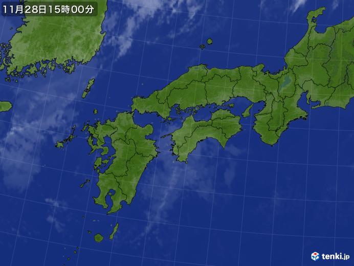 実況天気図(2017年11月28日)