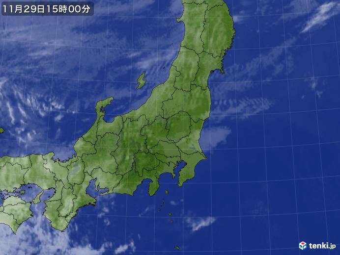 実況天気図(2017年11月29日)