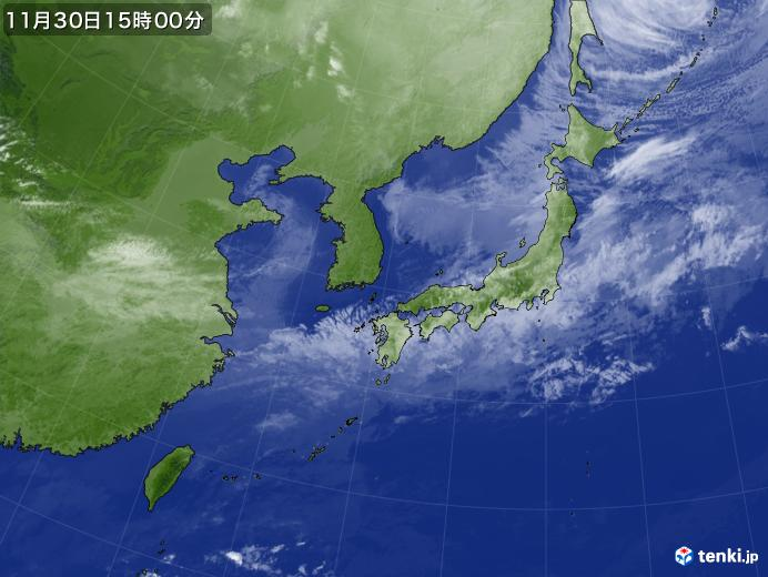 実況天気図(2017年11月30日)