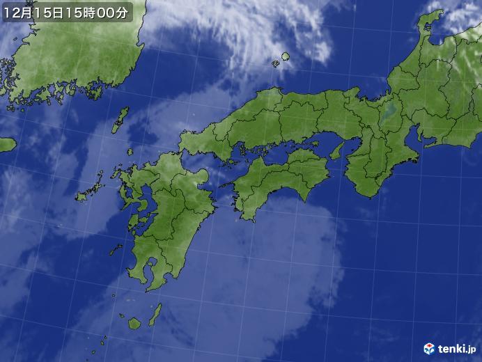 実況天気図(2017年12月15日)