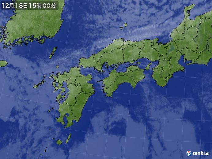 実況天気図(2017年12月18日)