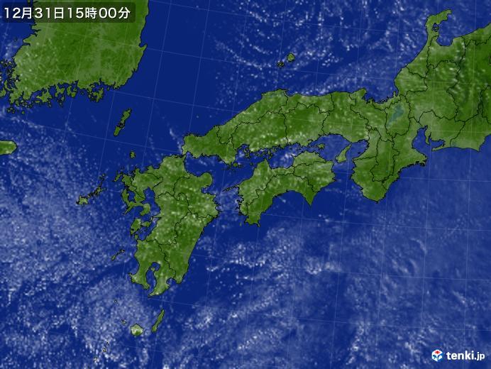 実況天気図(2017年12月31日)