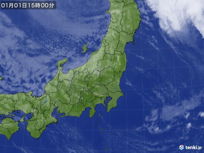 実況天気図(2018年01月01日)