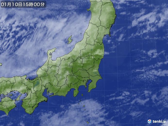 実況天気図(2018年01月10日)