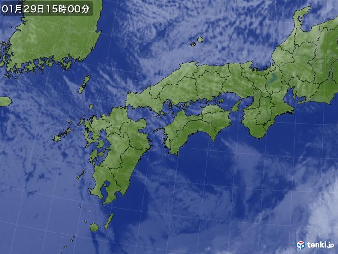 実況天気図(2018年01月29日)
