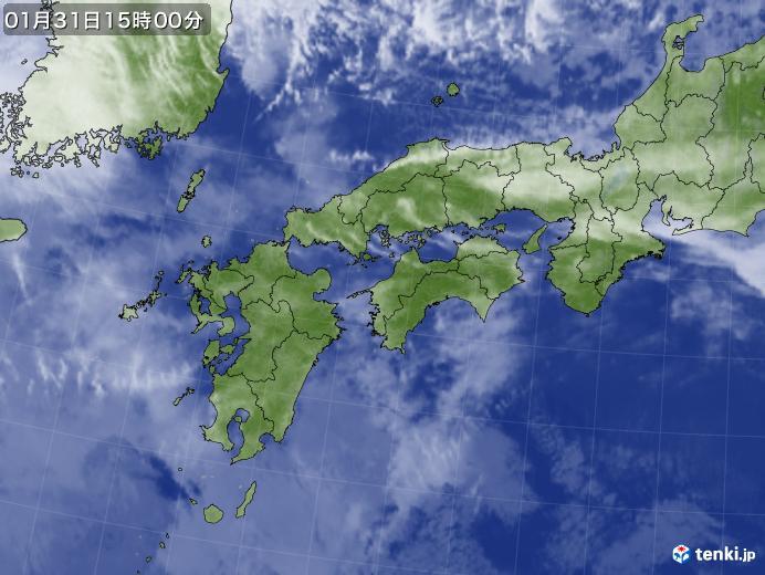 実況天気図(2018年01月31日)