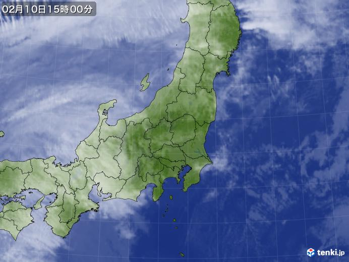 実況天気図(2018年02月10日)