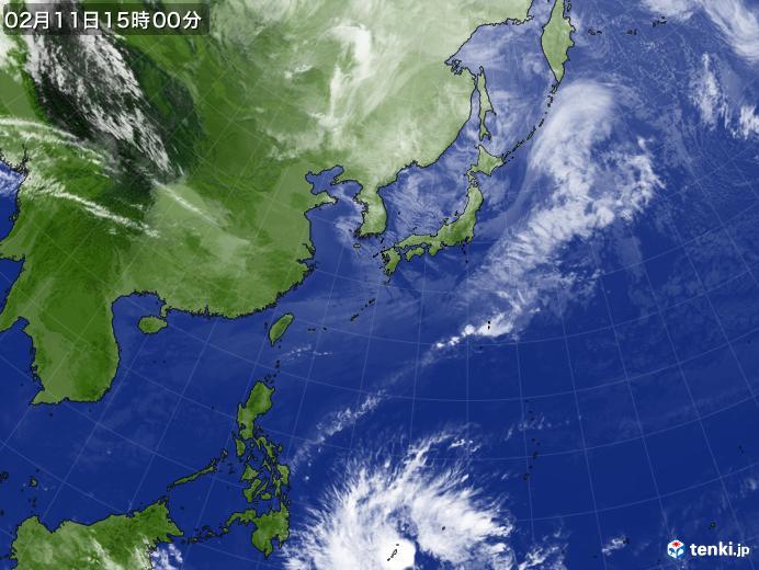 実況天気図(2018年02月11日)