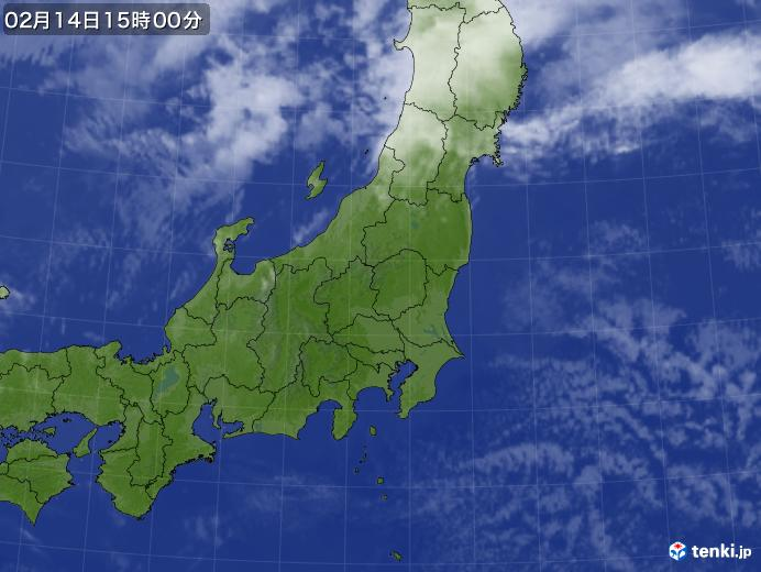 実況天気図(2018年02月14日)