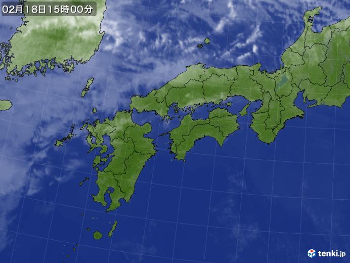 実況天気図(2018年02月18日)