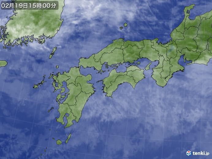 実況天気図(2018年02月19日)
