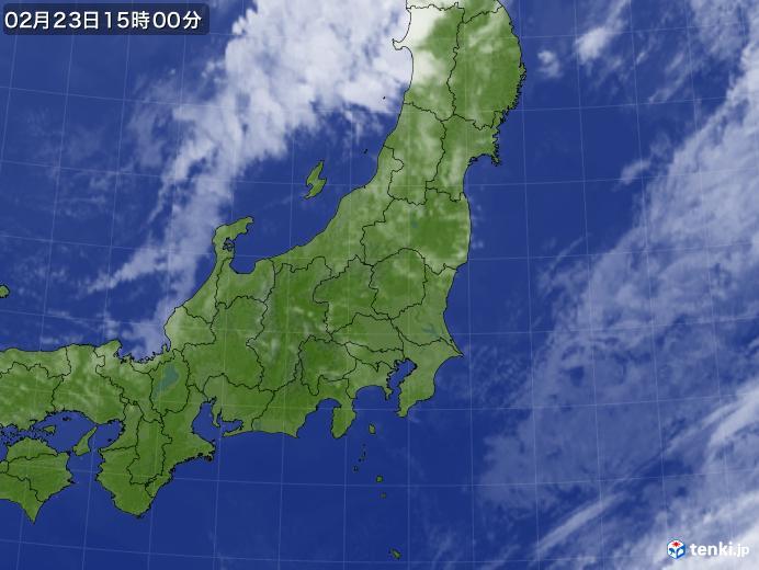 実況天気図(2018年02月23日)