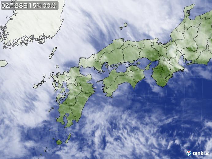 実況天気図(2018年02月28日)