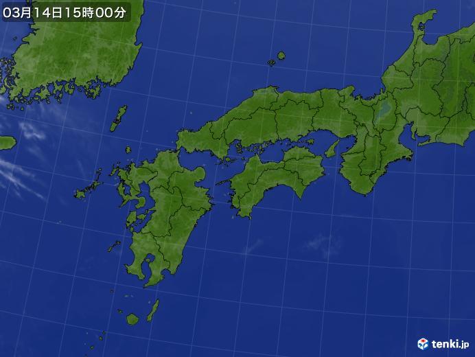 実況天気図(2018年03月14日)