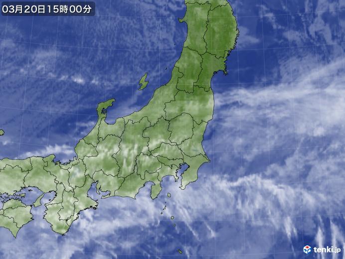 実況天気図(2018年03月20日)